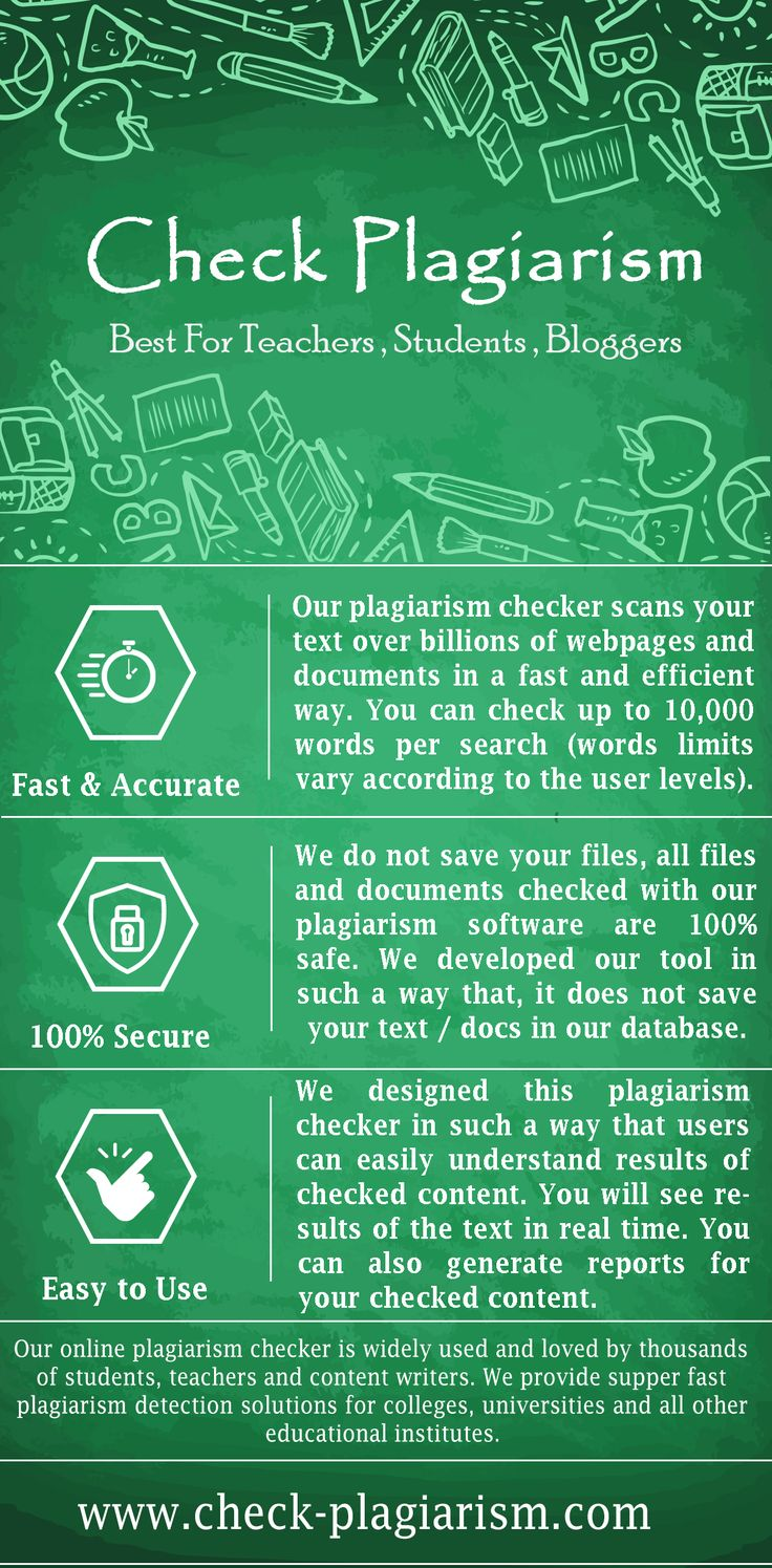 Check Plagiarism check-plagiarism.com is specially developed for online plagiarism software to make users easy to check their papers or documents online. We have solutions for everyone to use our detectors for their needs. Check here to check live demo of our ati-plagiarism software. Source: http://www.check-plagiarism.com