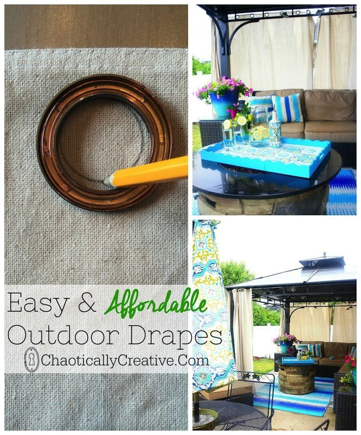 easy and affordable outdoor drapes