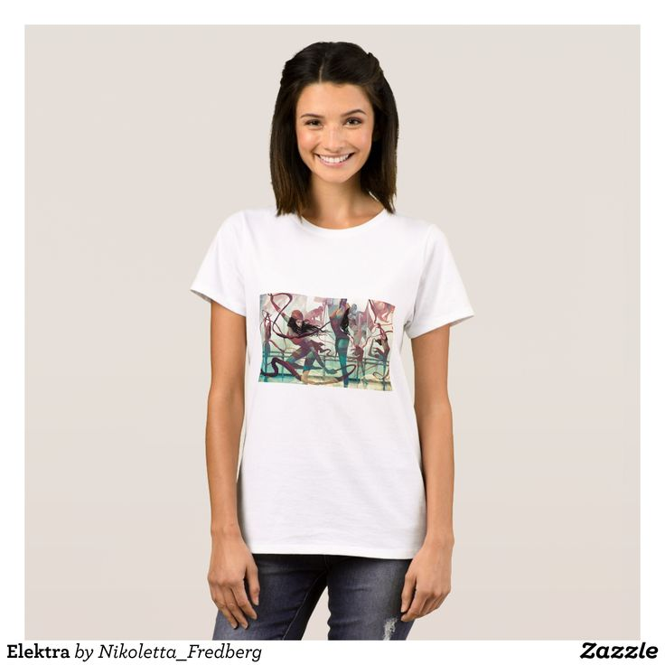 Elektra T-Shirt - Fashionable Women's Shirts By Creative Talented Graphic Designers - #shirts #tshirts #fashion #apparel #clothes #clothing #design #designer #fashiondesigner #style #trends #bargain #sale #shopping - Comfy casual and loose fitting long-sleeve heavyweight shirt is stylish and warm addition to anyone's wardrobe - This design is made from 6.0 oz pre-shrunk 100% cotton it wears well on anyone - The garment is double-needle stitched at the bottom and sleeve hems for extra…