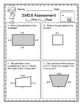 This 10 question assessment is perfect for use as a pre/post assessment. It includes a data sheet to help you and your students see individual growth. Check out assessments for EVERY third grade math standard at:https://www.teacherspayteachers.com/Product/Third-Grade-Math-Assessments-Standards-Based-2044083