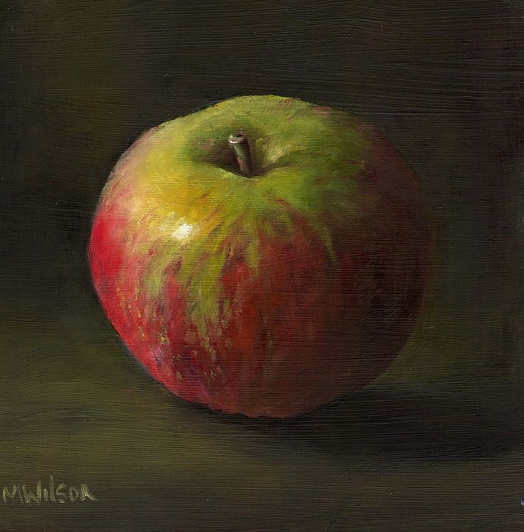 Oil Painting/ Marjorie Wilson/ Still Life-  Little Cox Apple