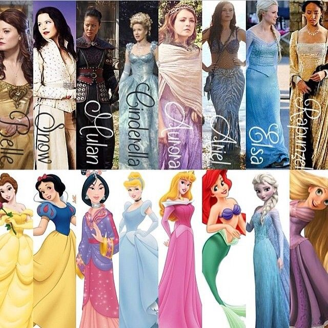 Once upon a time vs Disney