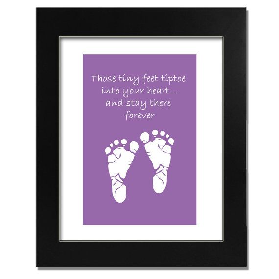 Baby Foot Prints And Quote 8x10 Print By Breathtakingart