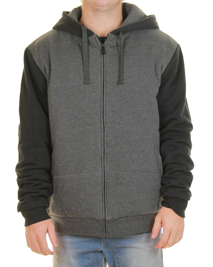 Inseption - Mens - Rip Curl - Kontrast Quilted Hood Fleece - Black ...