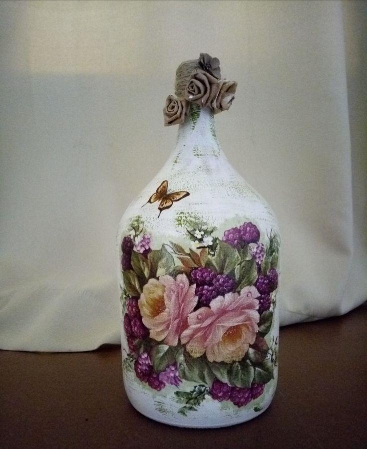 1171 best envases de vidrio decorados images on pinterest for Envases de vidrio decorados