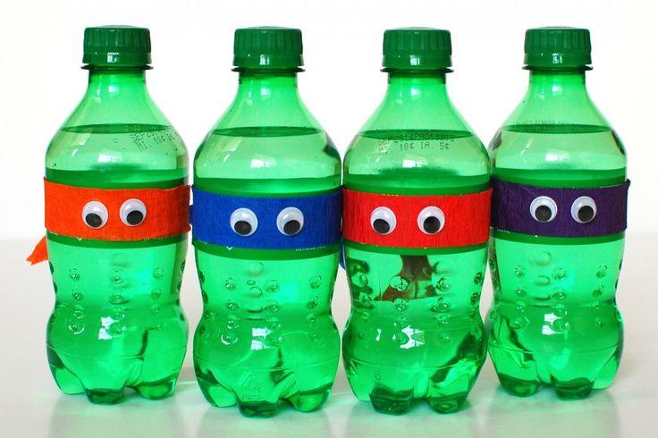 Teenage Mutant Ninja Turtle Party Ideas: Snacks & Goodie Bags http://wp.me/p4nAhc-2e8 #TMNT #DIY #birthday