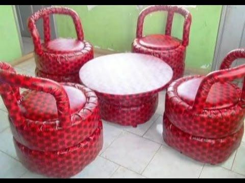 Business idea. Manufacture of furniture from car tires