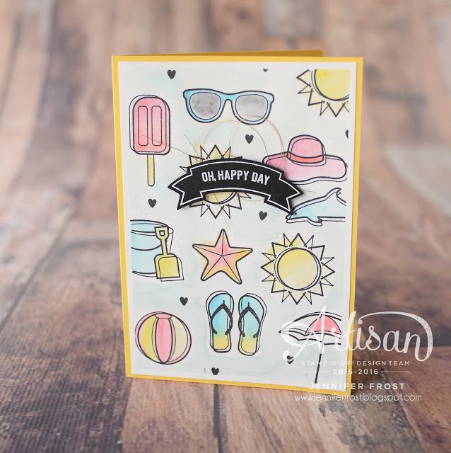 Day at the Beach, Thoughtful Banners, Stampin' Up!, Papercraft by Jennifer…