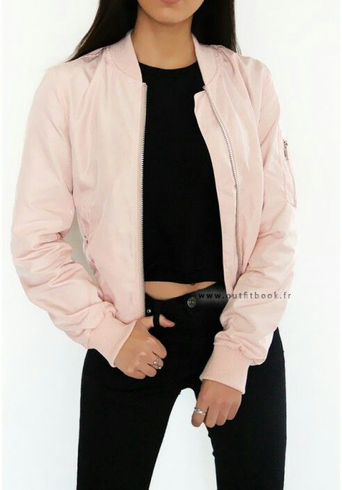 Bomber rose pâle outfitbook