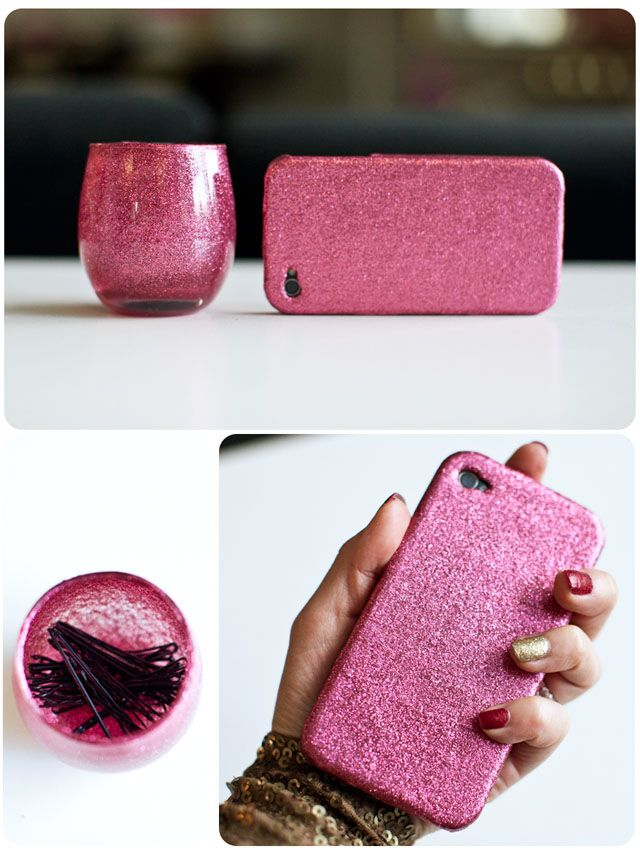 How to: GLITTER... Everything! (without it falling off): Pink Glitter Crafts, Crafts Ideas, Glitter Everything, Diy Crafts, Crafts With Glitter, Mod Podge, Fun Fall Projects, All Pink Everything, Phones Cases