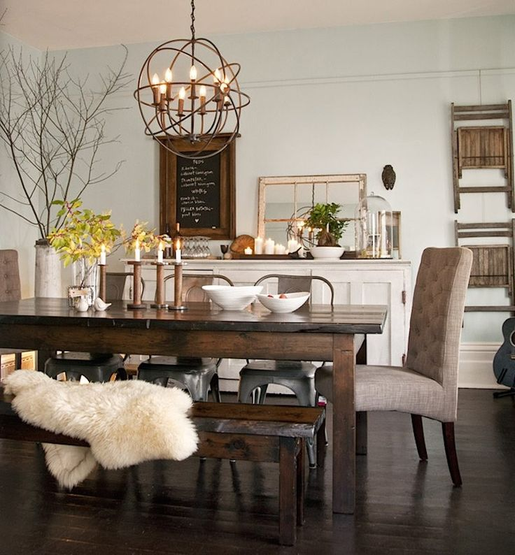 25 best ideas about Rustic dining rooms on Pinterest  : aa452fce484c4a29aea2921c0b841acd from www.pinterest.com size 736 x 794 jpeg 93kB