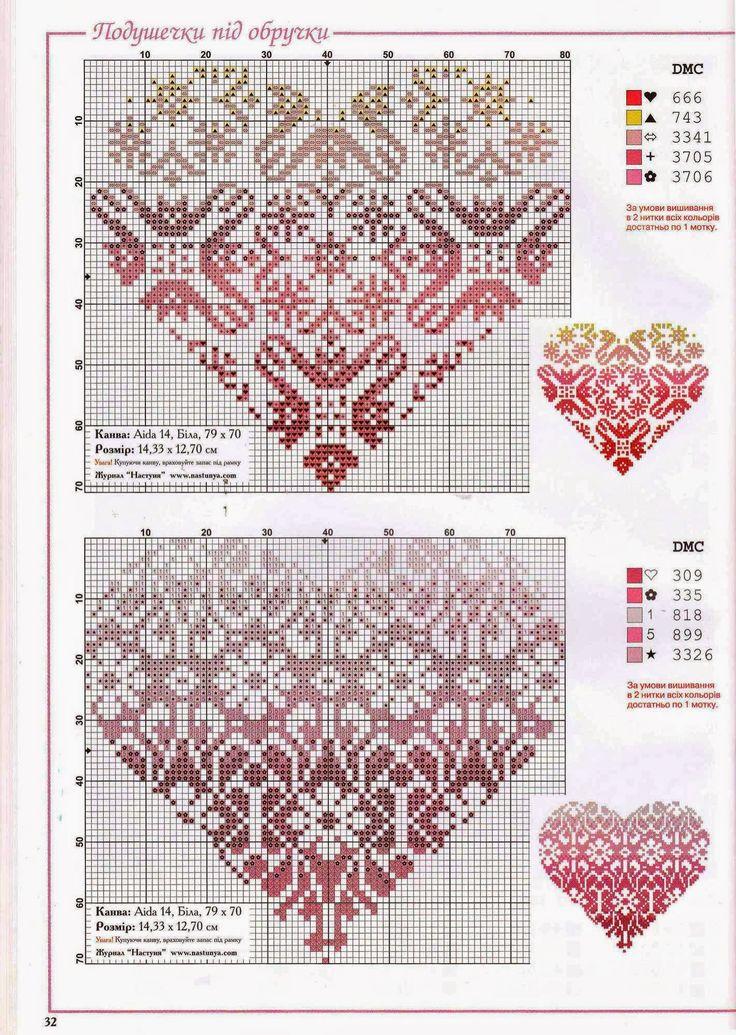 Knitting Heart Chart : Images about cross stitch on pinterest stitching