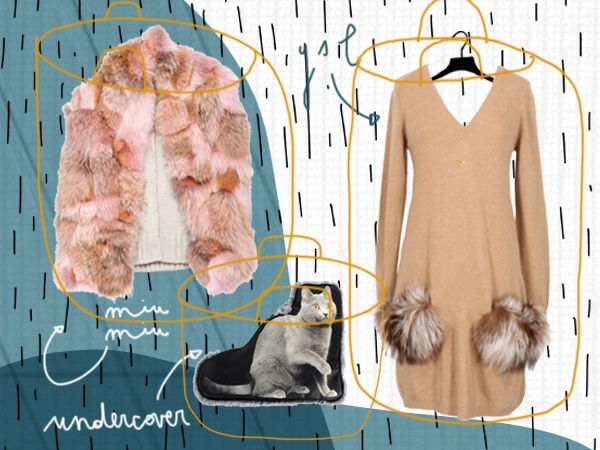 Crazy about fur.    Illustration by Michela Buttignol