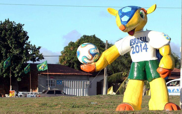 """#Fuleco la #Nascota del Mundial de Fútbol #Brasil2014 #Blog @Candidman  """"Fuleco"""" la mascota del mundial dará la bienvenida a la selección de México y Camerún en su partido debut, en el estadio Arena Das Dunas el próximo viernes, en la Copa del Mundo Brasil 2014."""