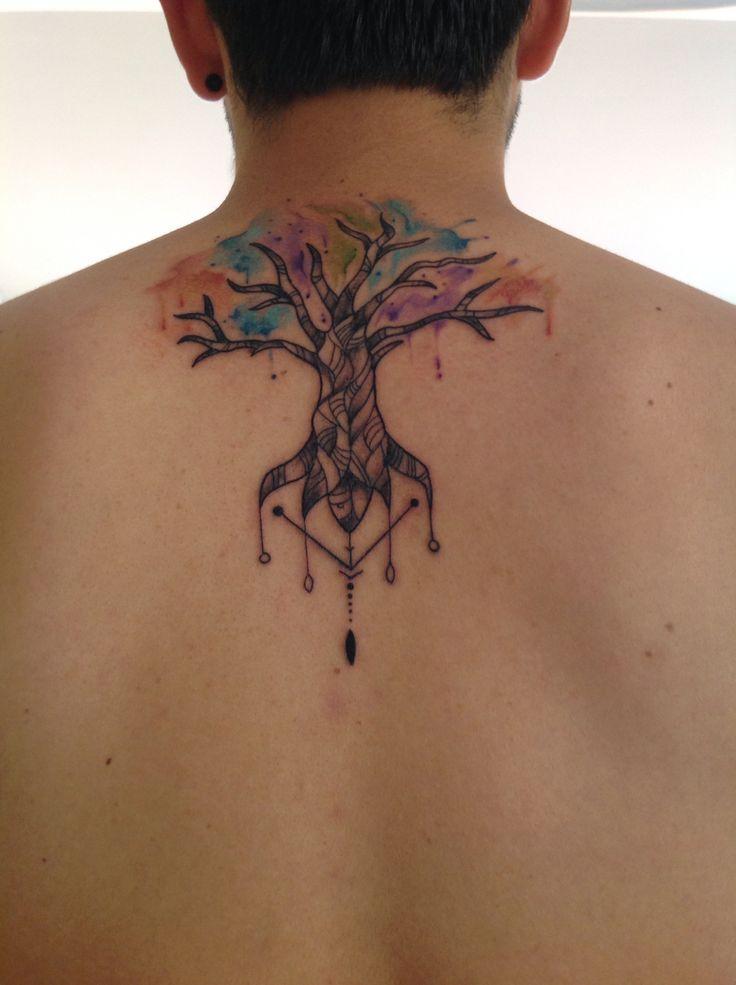 Tattoo #Tree #Arbol #Raíz #Acuarela