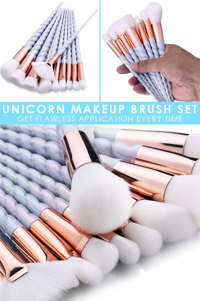 Unicorn Makeup Brush Set - A Must-Have For Any Makeup Bag!   www.mymakeupbrushset.com