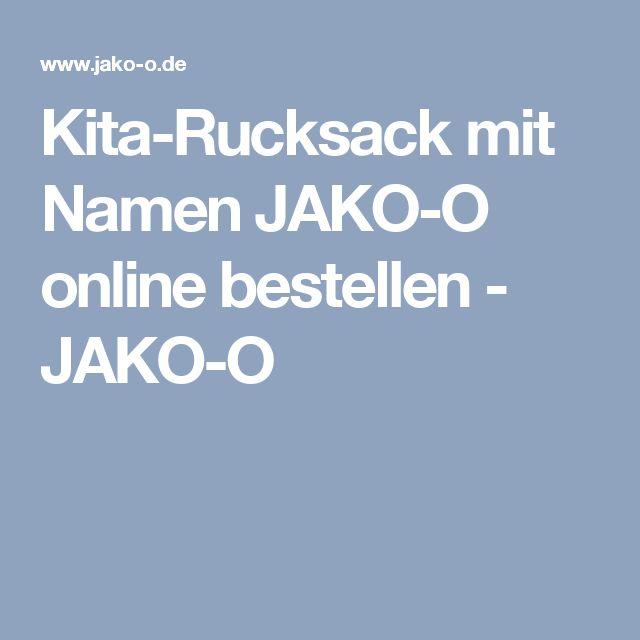 Kita-Rucksack mit Namen JAKO-O online bestellen - JAKO-O