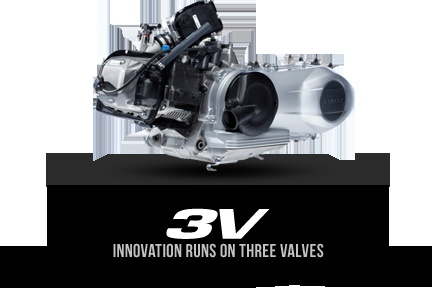 New Vespa three valves engine for Vespa LX and S models