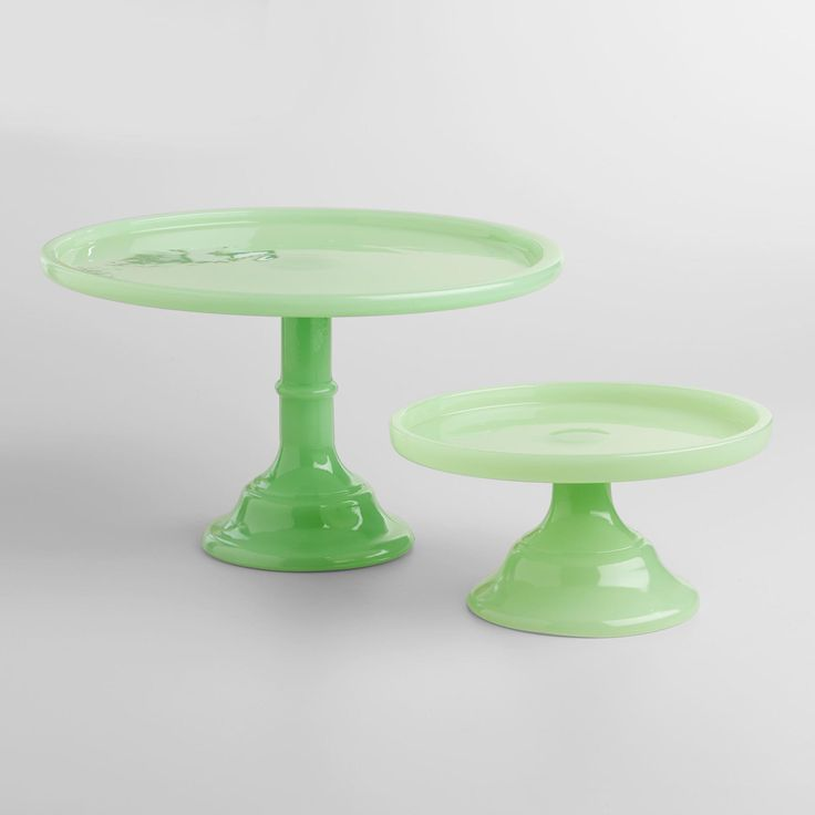 225 best vintage kitchen images on pinterest vintage for Colored glass cake stand