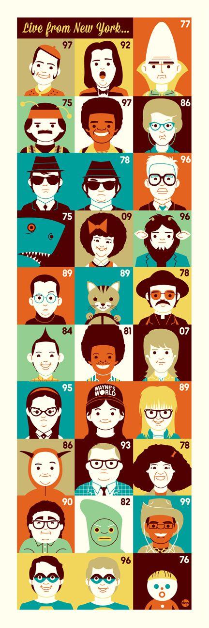 "Gallery 1988: Dave Perillo ""A Character Piece"" | Saturday Night Live | #SNLFanArt"