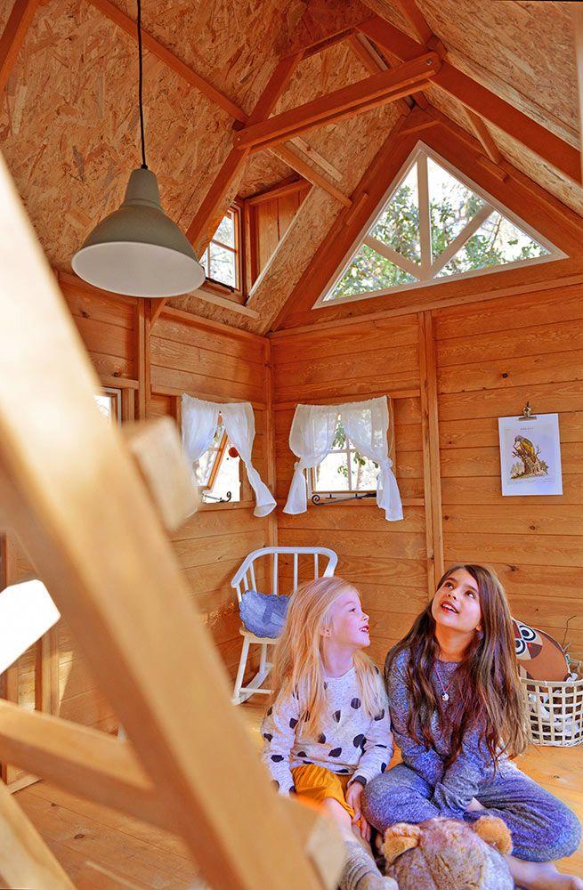 Interior casita de madera para niños Florida.