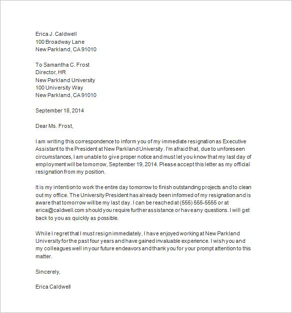 resignation letter board directors free notice template word pdf format download