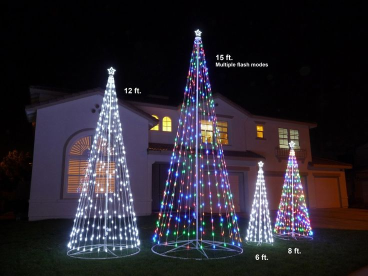 207 best outdoor christmas lights images on pinterest christmas wireless remote control outdoor white led cone tree with collapsible base led outdoor christmas tree decor mozeypictures Choice Image