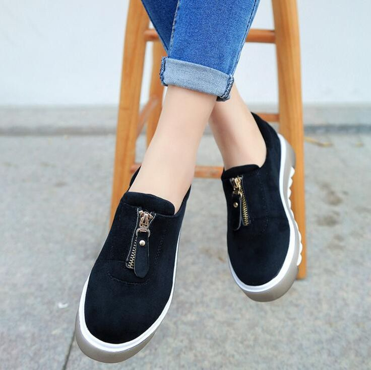 2017 spring new zipper single shoes suede shoes loose cake thick bottom women shoes wholesale M07