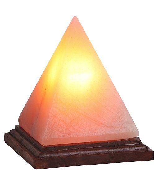 Vesuvius - soľná lampa - 152mm - hnedé drevo-kamenná soľ