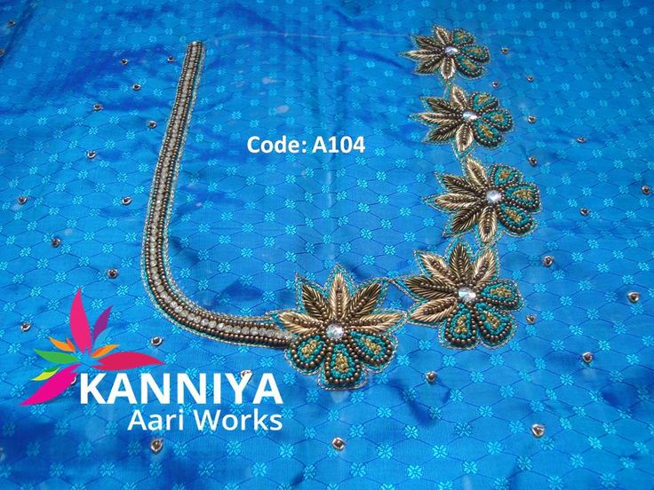 French knot and zardosi work for bridal kanniya aari