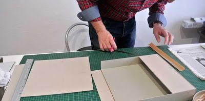 Albumes, libros de firmas, cajas, carpetas, bolsos, cuadernos, marcos.... todo personalizado. Clases de cartonnage.