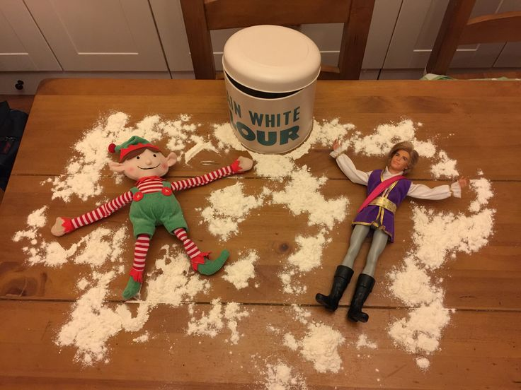 The last night of frolicking before Christmas & Prince Charming thought Elf Snow Angels would be a good idea!