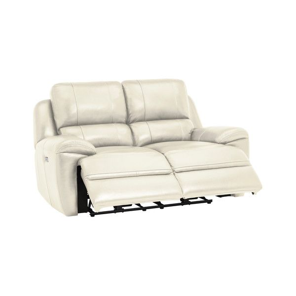 Cream Leather Sofas 2 Seater Electric