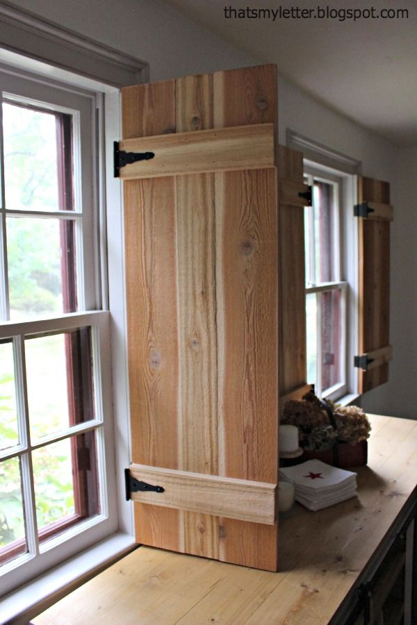 Ana White | Build a Interior Cedar Shutters-Feature by Pretty Handy Girl | Free and Easy DIY Project and Furniture Plans