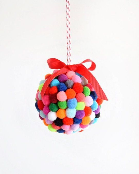 15 Bright & Colorful DIY Ornaments for Your Tree | Apartment Therapy