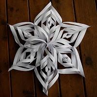 Winter ~ Advent ~ Week One: Crystal & Stone ~ Paper Snowflake Star ~ Tutorial