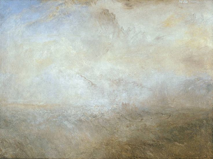 joseph mallord william turner -- seascape with distant coast -- c1840 -- oil on canvas -- tate britain