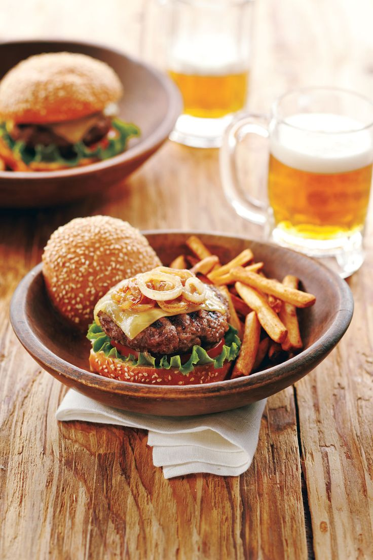 Ground elk is a lean and tasty alternative to ground beef. Chopped bacon adds a bit of fat to make these burgers ultra-tender, while red wine brings out the richness of the elk.