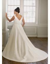 Belle robe de mariée 2012 grande taille bretelles ornée de fleur et noeud papillon