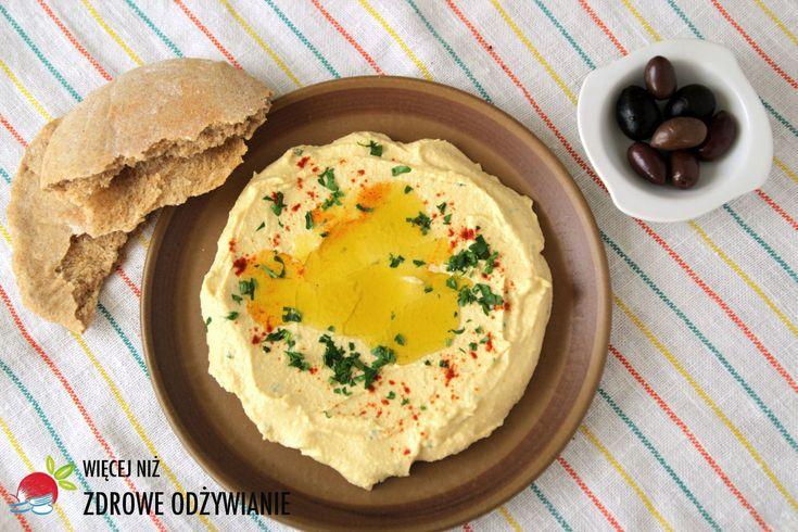 Kremowy humus - bez sody; Zdrowe Odżywianie, Pasta z ciecierzycy, zdrowe jedzenie, zdrowy tryb życia, humus idealny, humus kremowy