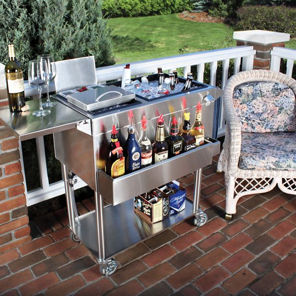 Stainless Steel Cocktail Cart