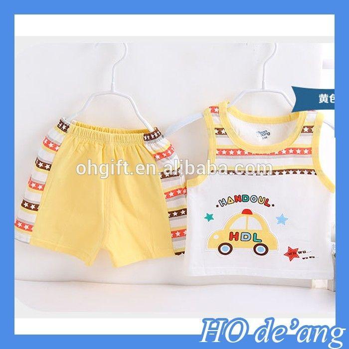 HOGIFT naranja ropa de bebé de importación niños ropa de moda cómoda del bebé del punto de oro de encargo traje-imagen-Sets de ropa para bebes-Identificación del producto:60434936395-spanish.alibaba.com