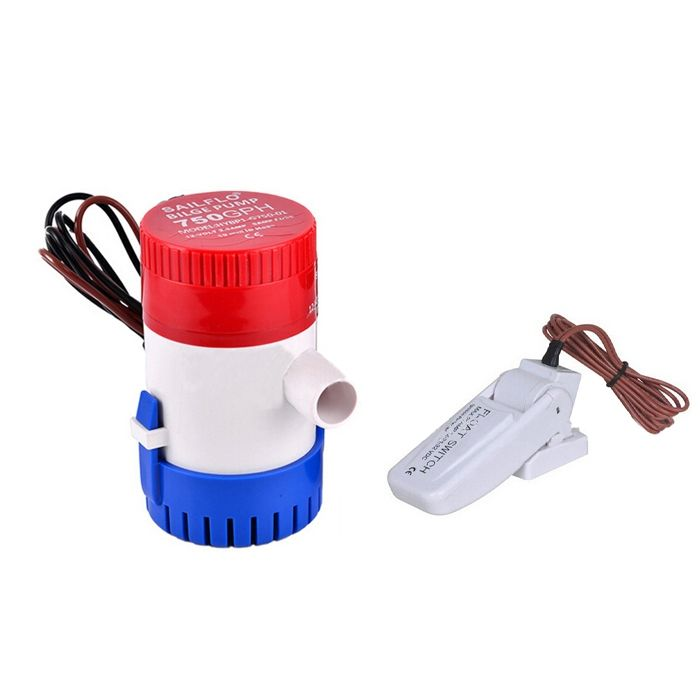 28.99$  Buy now - http://alilfs.shopchina.info/1/go.php?t=32804130591 - 12v/24Volt submersible bilge pump 750GPH electric water pump for boats accessories marin with bilge float switch  #SHOPPING