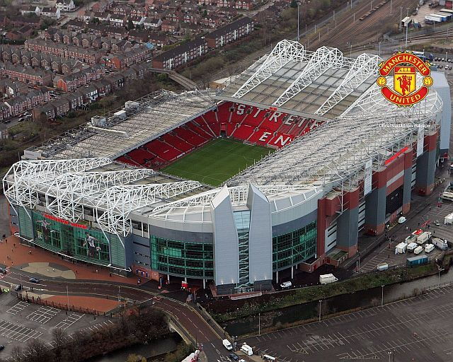 Old Trafford, also known as the Theatre of Dreams. Manchester United Stadium.