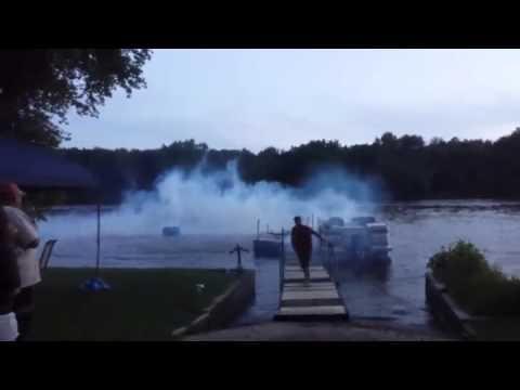 Dock Gets Destroyed After Funny Fireworks Fail - #funny #fireworks #fail