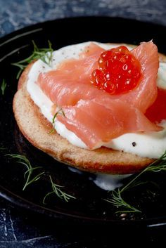 Steven Doherty's smoked salmon blinis recipe is perfect served as an individual starter – a fluffy, yeasted pancake topped with the classic combination of cream cheese, smoked salmon and a little caviar for an elegant flourish. Smaller blinis could be served as delicious party canapé.