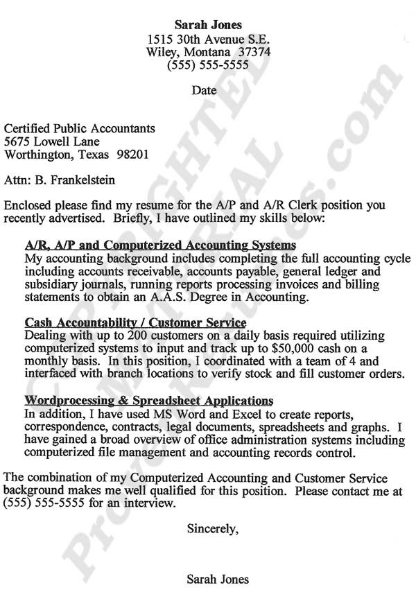 Certified Public Accountant Cover Letter