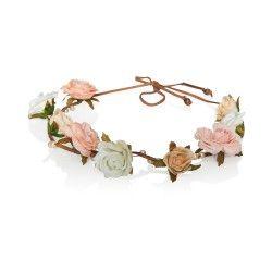Feines Haarband aus Satinblüten und Perlen. Kaufen bei dresscoded.com. #dresscoded
