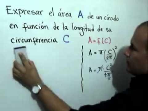 Area de un círculo en función de la longitud su circunferencia - YouTube