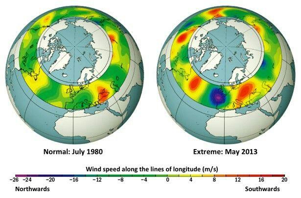 》Fatale Strömungsveränderung: Extremwetter werden überall auf der Erde immer häufiger. Schuld daran ist nicht nur die Erderwärmung selbst - sondern auch ihre Auswirkung auf den Jetstream. Das haben Forscher nun mithilfe von historischen Wetterdaten und Klimasimulationen gezeigt. Durch die zunehmende Freisetzung von Treibhausgasen durch den Menschen kommt es demnach vermehrt zu veränderten Luftbewegungen in der Atmosphäre, die das Auftreten von Hitzewellen und Co begünstigen.《
